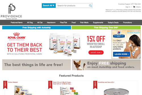 Providence Animal Center online pharmacy
