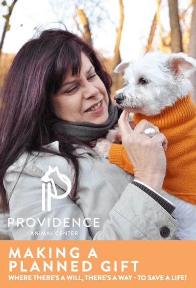 Providence Animal Center Planned giving brochure