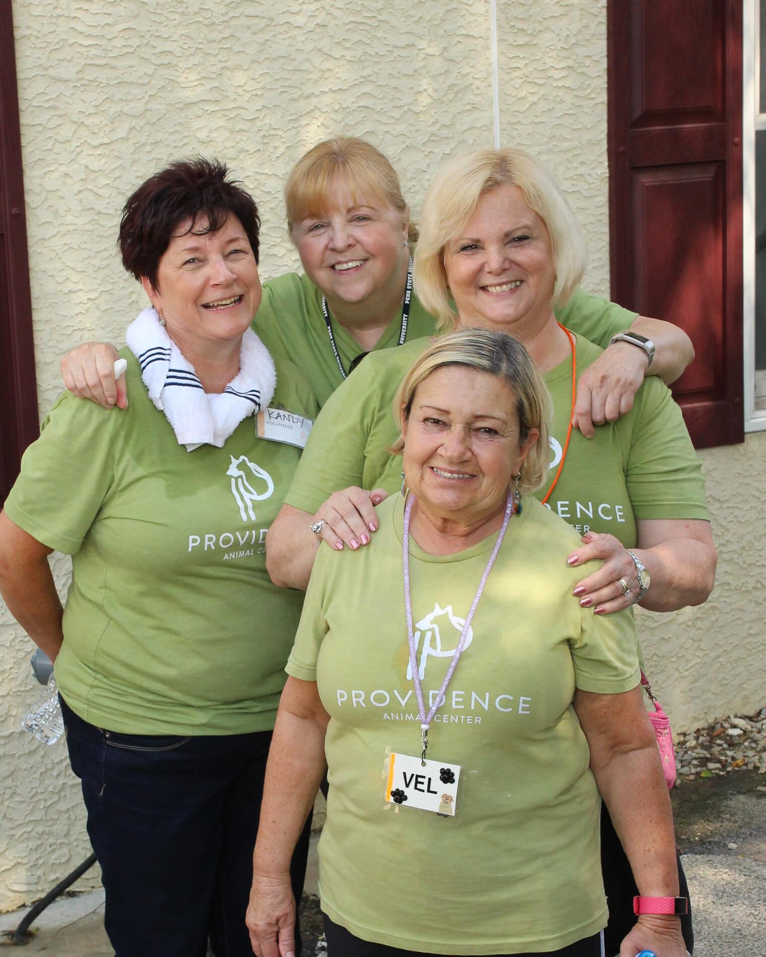 Providence Animal Center volunteers