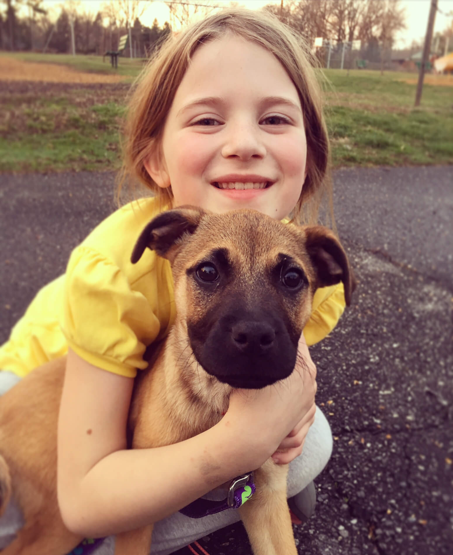 Providence Animal Center tails - little girl with a dog