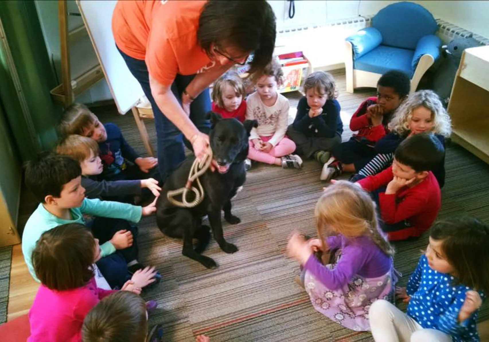 Providence Animal Center with kids